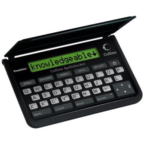Franklin Collins Pocket Electronic Spell Checker | Crossword Solver | Black | SPQ109 Thumbnail 2