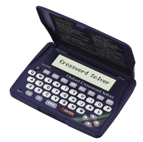 Seiko Electronic Oxford Crossword Anagram Solver Spell Checker Thesaurus ER3200 Thumbnail 1