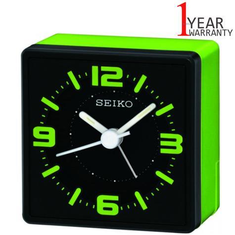 Seiko Electronic Beep Alarm Bedside Alarm Clock | 3 Hands | Analouge | Green | QHE091M Thumbnail 1