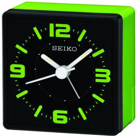 Seiko Electronic Beep Alarm Bedside Alarm Clock | 3 Hands | Analouge | Green | QHE091M Thumbnail 2
