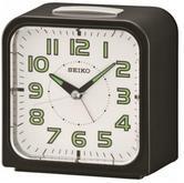Seiko QHK025J Wecker Alarm Clock?Bell Alarm?Snooze?Black with White Face?