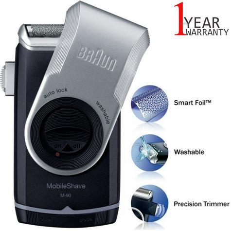 Braun M90 Men's Portable Electric Foil Shaver | Precision Trimmer | Battery Rozar | NEW Thumbnail 1