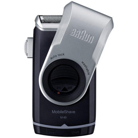 Braun M90 Men's Portable Electric Foil Shaver | Precision Trimmer | Battery Rozar | NEW Thumbnail 2