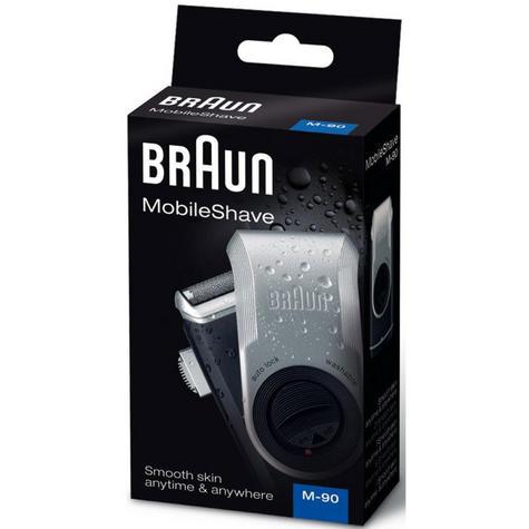 Braun M90 Men's Portable Electric Foil Shaver | Precision Trimmer | Battery Rozar | NEW Thumbnail 4