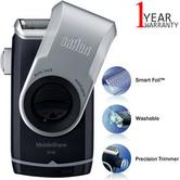 Braun M90 Men's Portable Electric Foil Shaver | Precision Trimmer | Battery Rozar | NEW