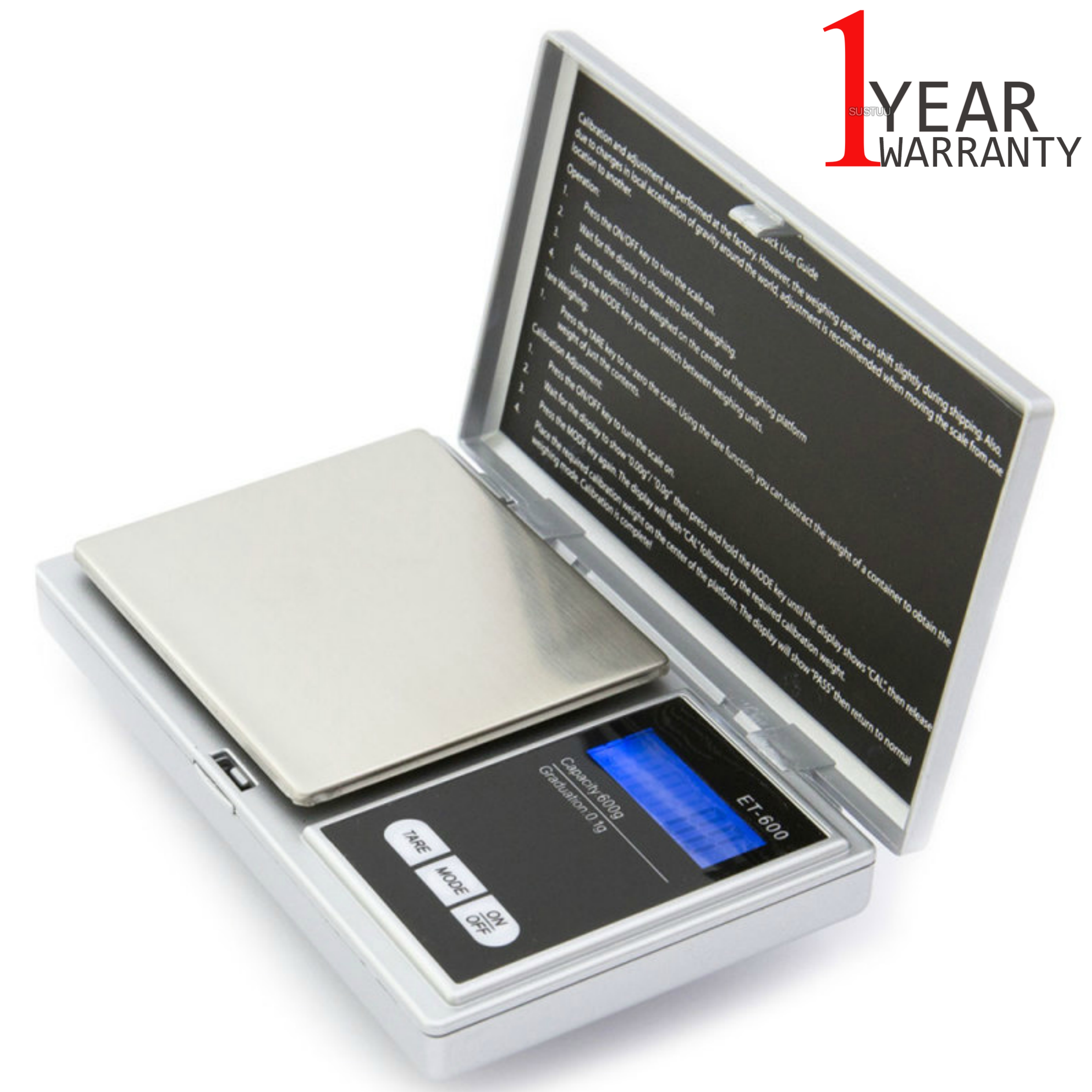 Kenex Professional Digital Portable Pocket Scale (Assorted) | LCD Display | Auto Off