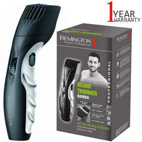Remington Mains Rechargeable Beard Trimmer | Cord-Cordless Use | Storage Bag | MB320C Thumbnail 1