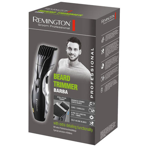 Remington Mains Rechargeable Beard Trimmer | Cord-Cordless Use | Storage Bag | MB320C Thumbnail 3