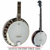 Stagg BJW24-DL 5 String Western Banjo Deluxe with Wooden Pot & Resonator - NEW