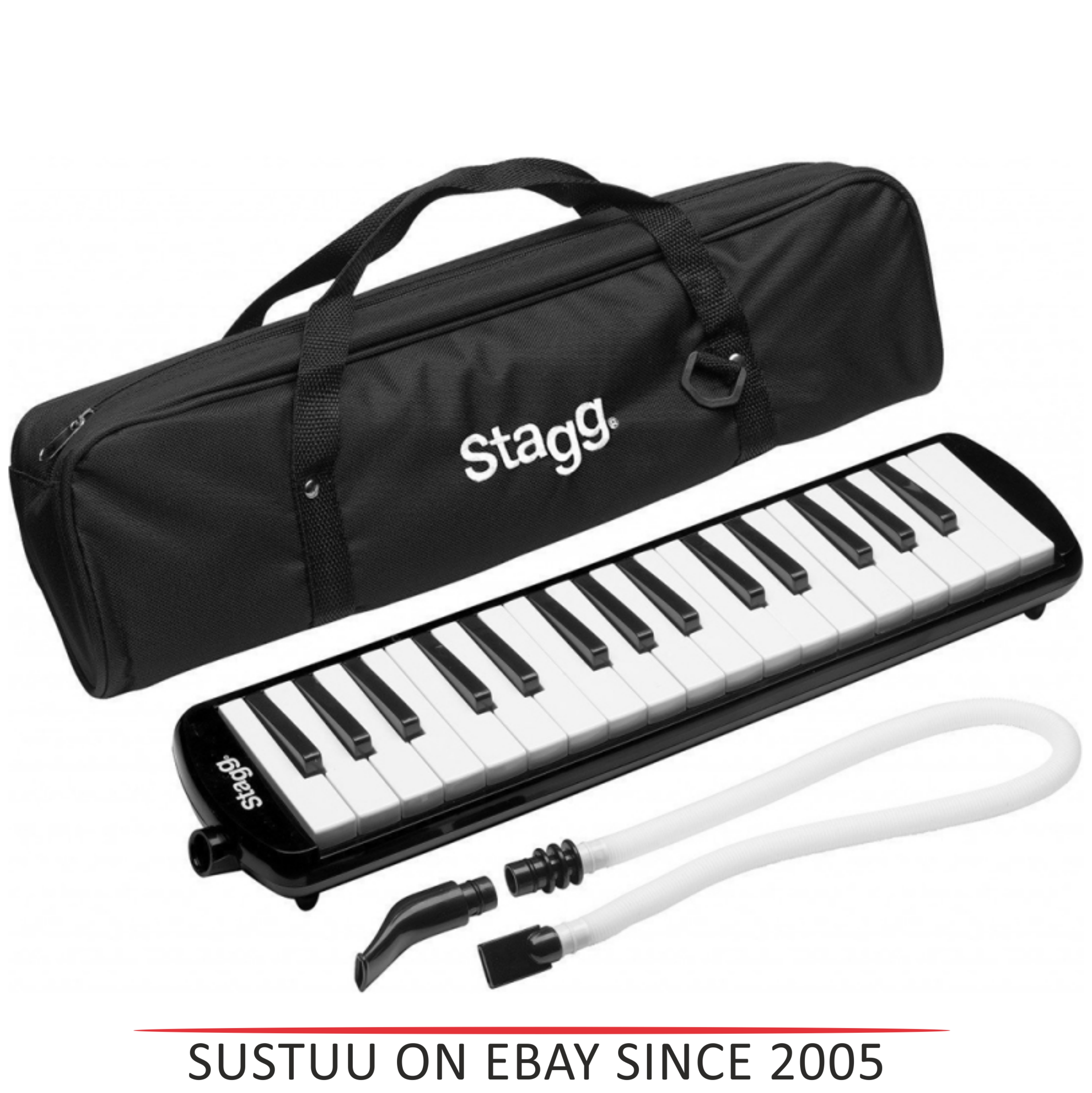 Stagg Melodica Black Music Reed 32 Keys Mouthpiece Piano Keyboard  - MELOSTA32BK