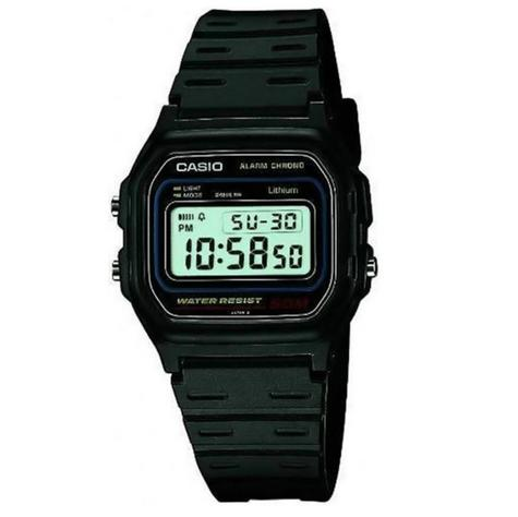 Casio W-59-1VQES Casual Digital Watch?50M Water Resistant?Black Resin Strap?NEW? Thumbnail 1