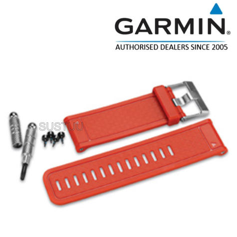 Garmin Replacement Wrist Watch Strap Band | D2-Fenix 2-Quatix Tactix | Orange | 010-11814-06 Thumbnail 1