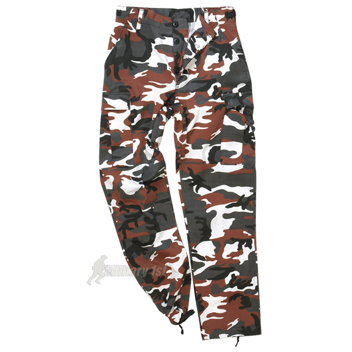 Sentinel US Ranger Combats Work Cargo BDU Pants Mens Trousers Red Camo  Camouflage S-3XL 61b239fdc298