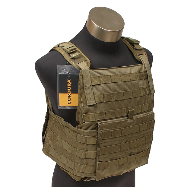 Sentinel Flyye Tactical PC Plate Carrier MOLLE Webbing Airsoft Cordura  Nylon Coyote Brown 14e147b9bb6