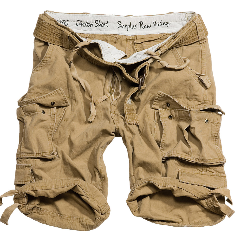 SURPLUS-DIVISION-MENS-COMBAT-ARMY-CARGO-HEAVY-DUTY-WORK-SHORTS-BELT-COYOTE-TAN
