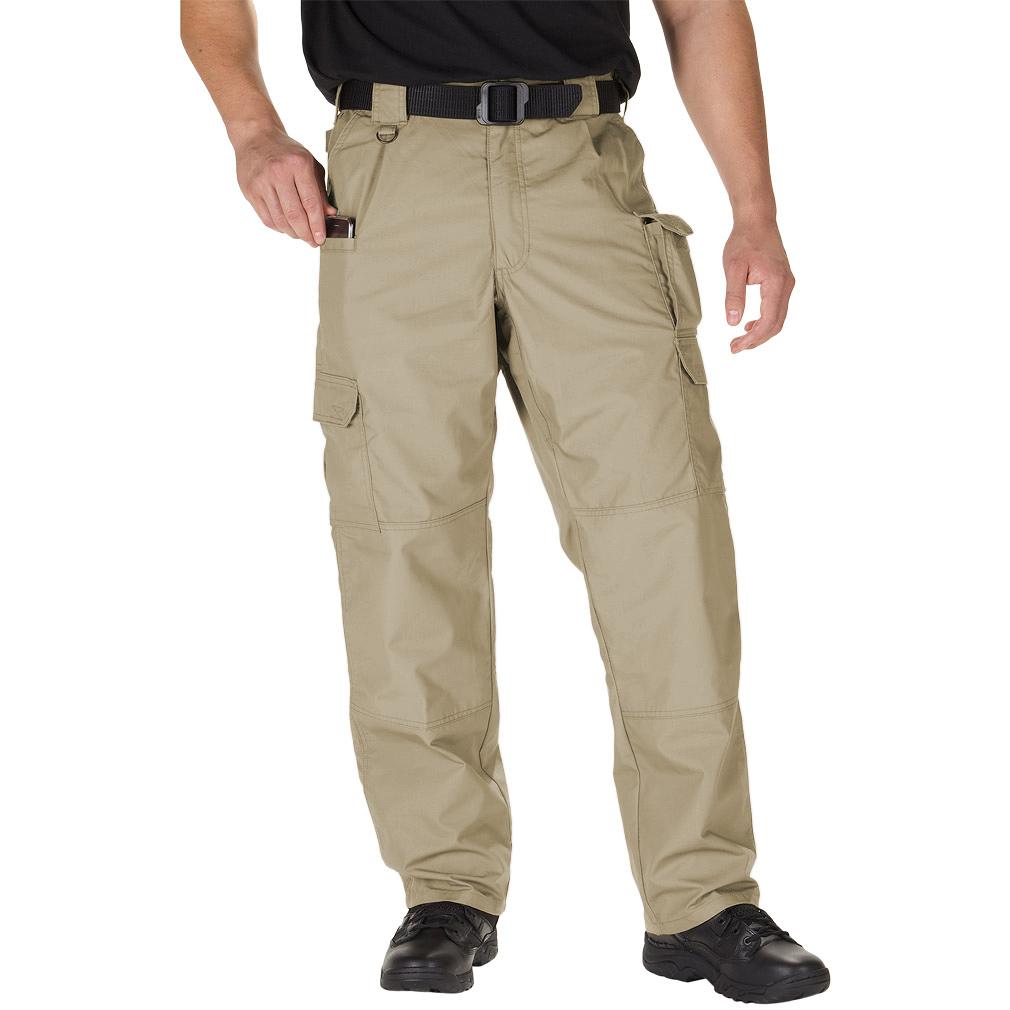 Pro Club Men's Fleece Cargo Pants Sweatpants - KHAKI