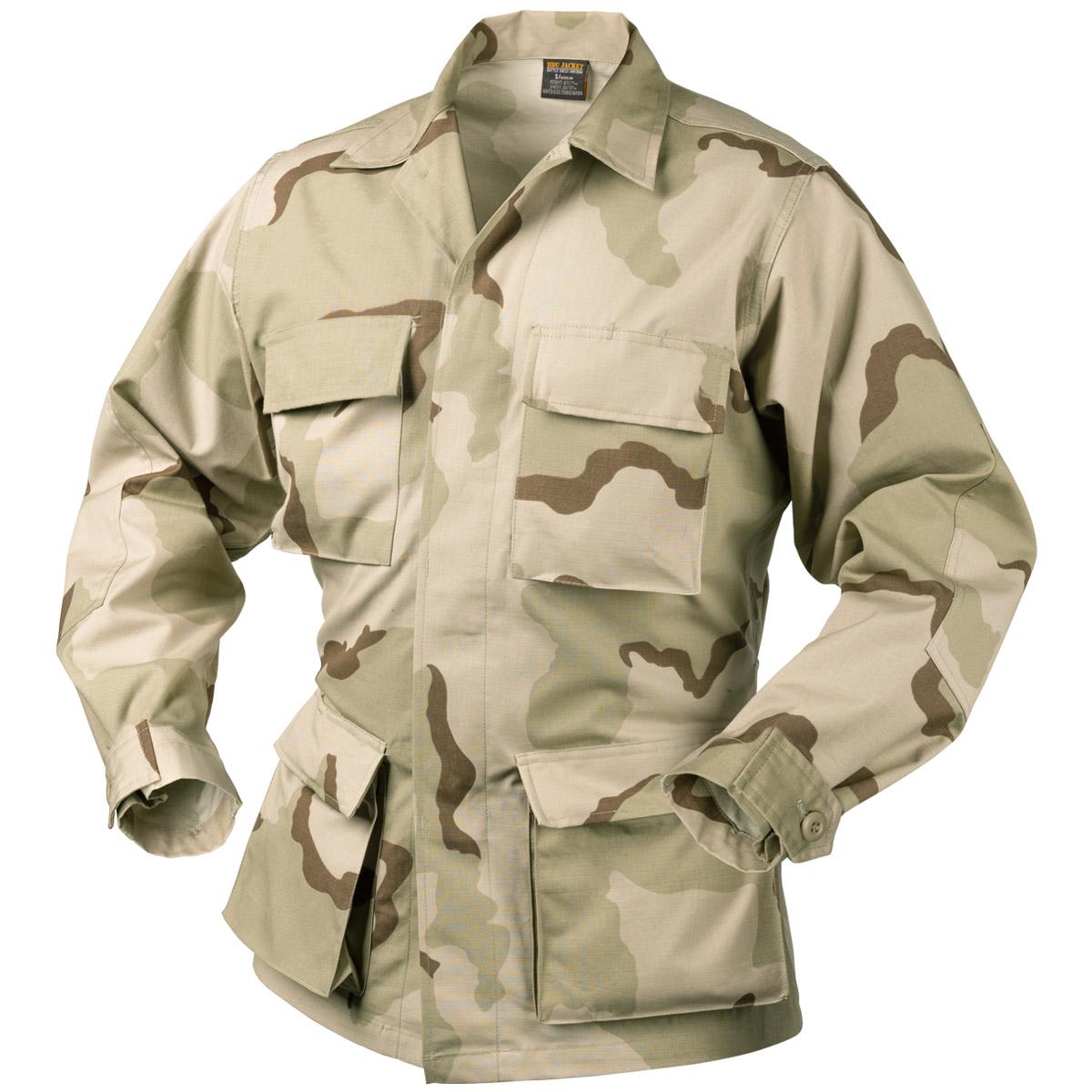 Details about Helikon Genuine BDU Tactical Combat Mens Shirt Army Jacket 3- Colour Desert Camo c4b4726eabef