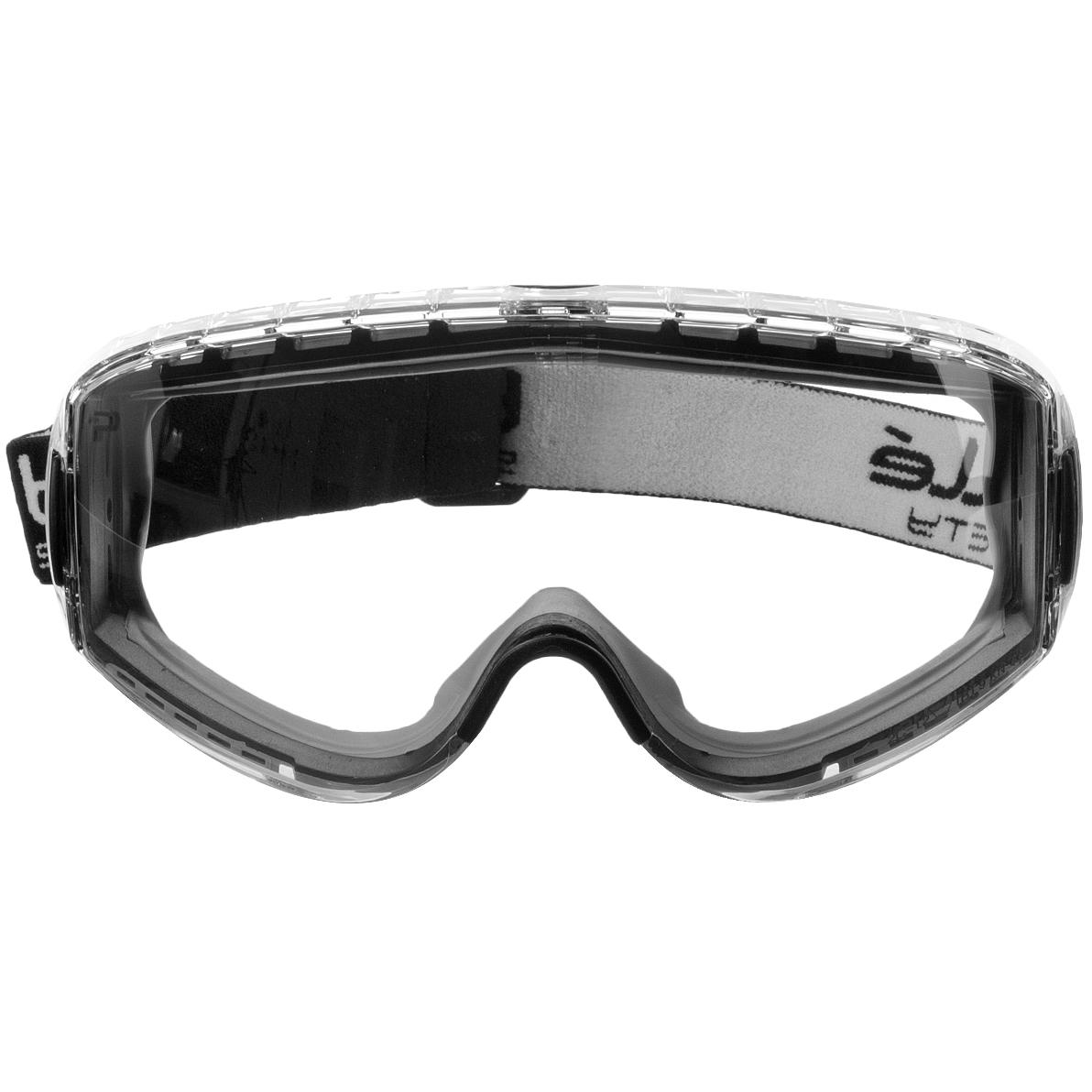 Bolle Safety Army Tactical Pilot Goggles Eye Protection Yellow Frame Clear Lens