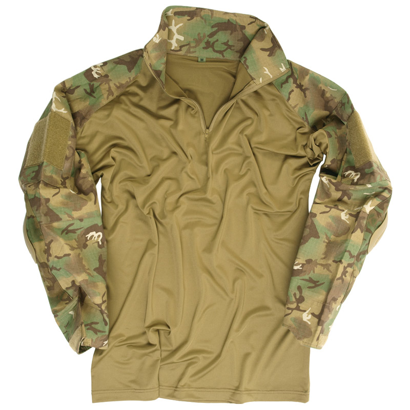 Ejercito-Guerrero-Combate-Tactico-Hombres-Camisa-Codo-Cojines-Airsoft-Aridas-W