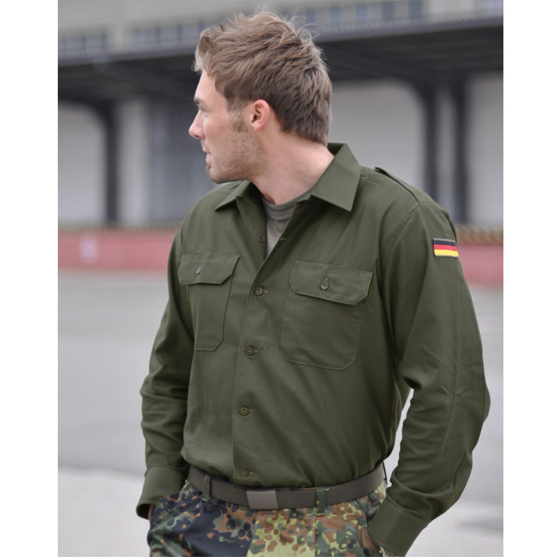 Bw-Ejercito-Tactico-Hombres-Camisa-Combate-Airsoft-Chaqueta-Uniforme-Militar-Ver