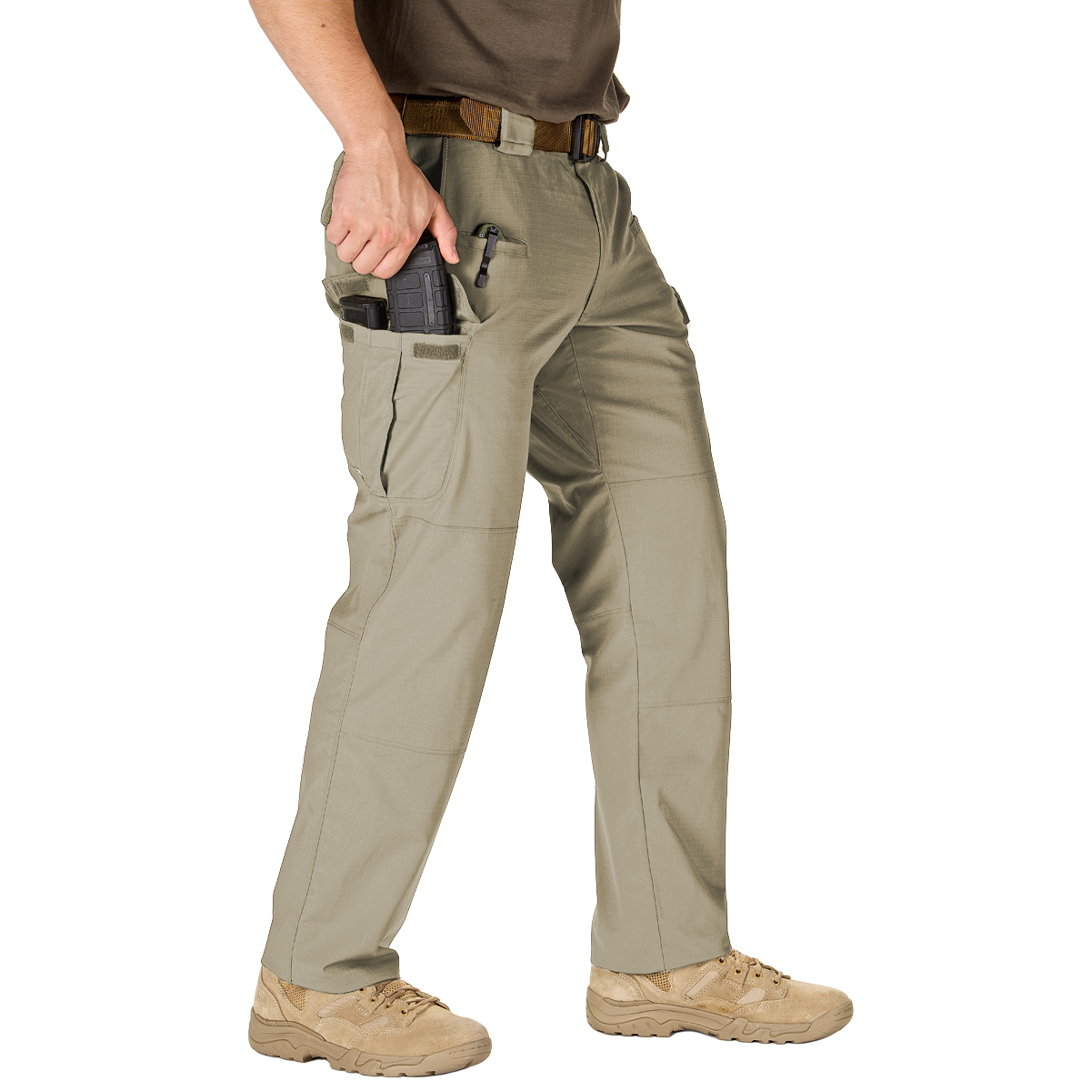 Preferred by law enforcement, tactical operators and outdoor enthusiasts, Pants are mission specific in a variety of styles including cargo pants, khaki pants, and work pants.