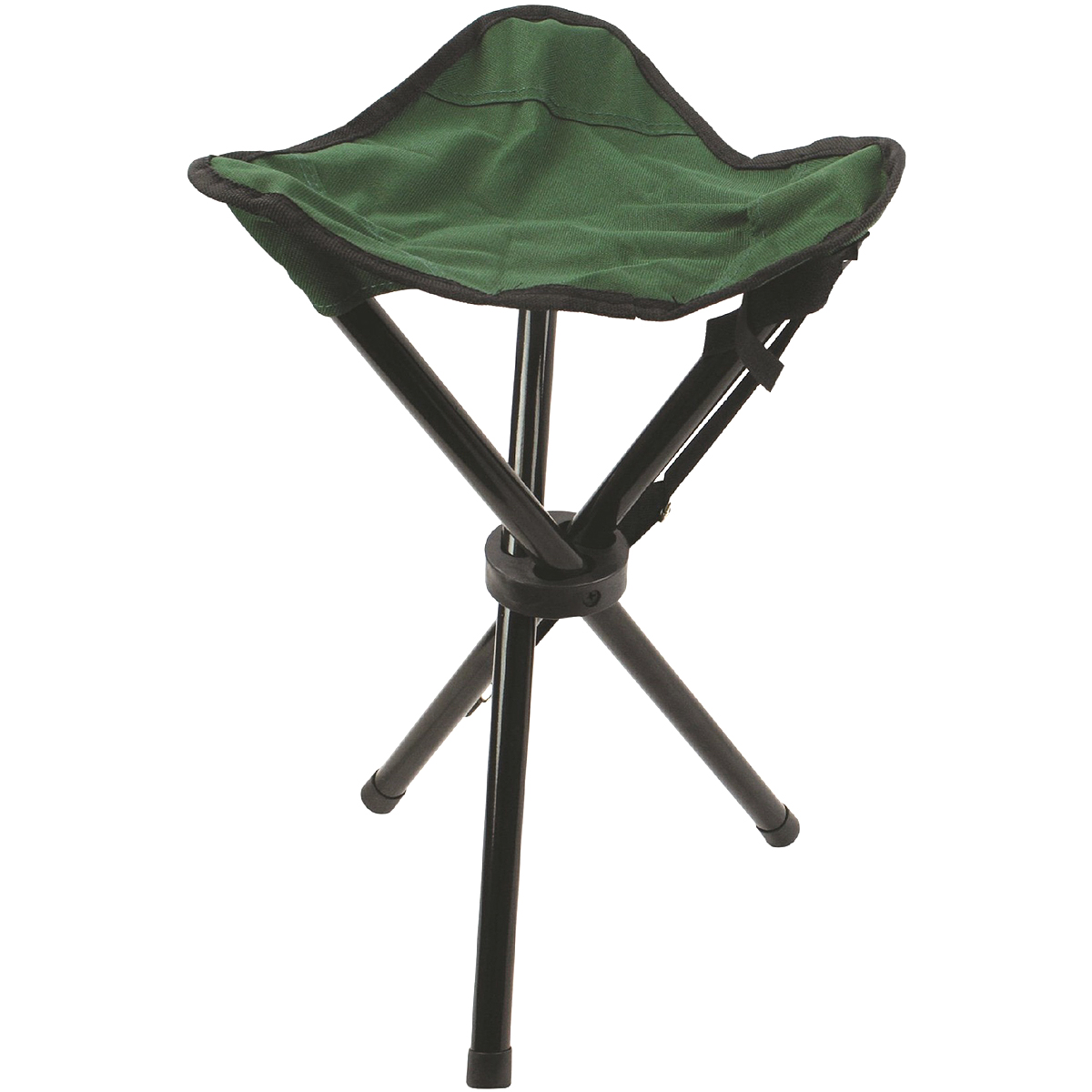 Highlander Folding 3 Leg Steel Tripod Stool Camping