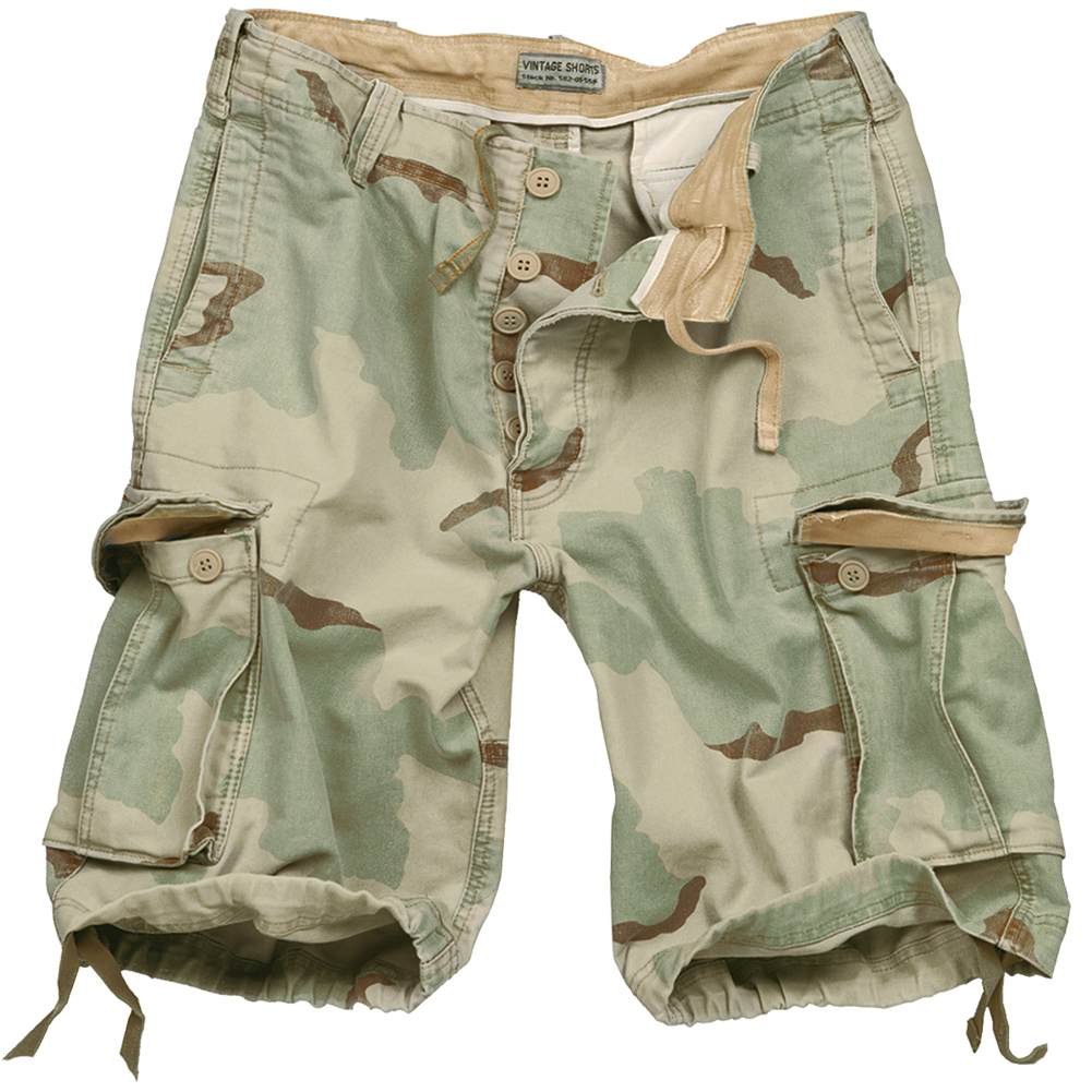 SURPLUS ARMY COMBAT CARGO MENS VINTAGE SHORTS WASHED ...