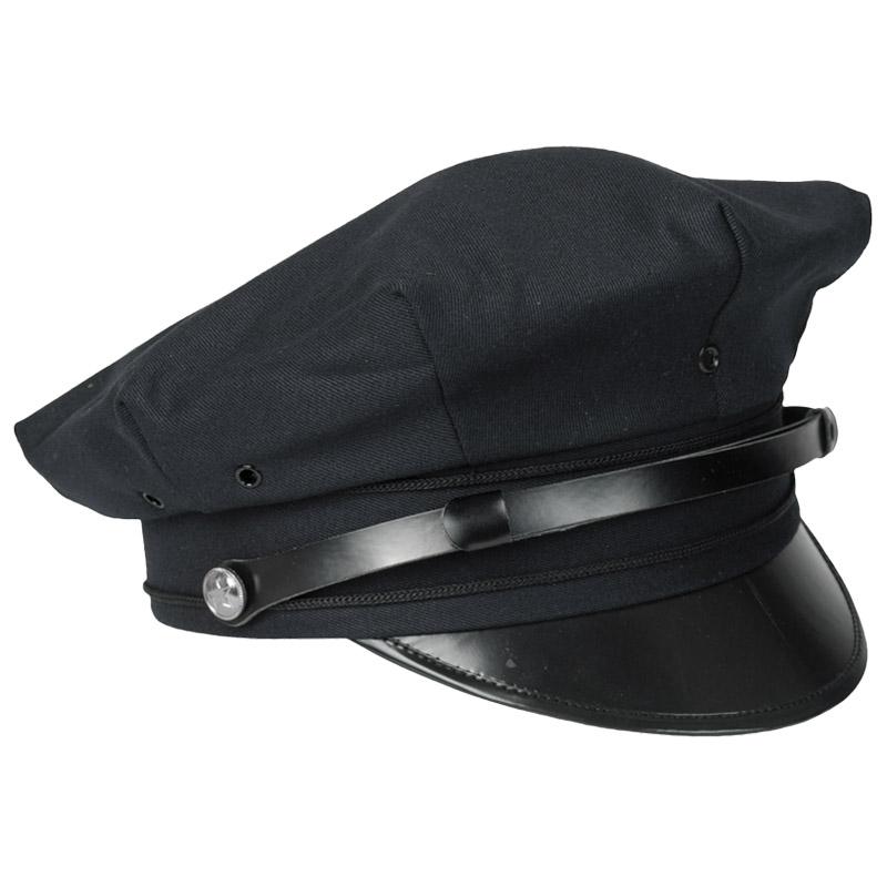 Details about Us Police Style Cop Visor Hat Mens Womens Cap Fancy Dress  Costume Dark Blue f97ea2c4a85