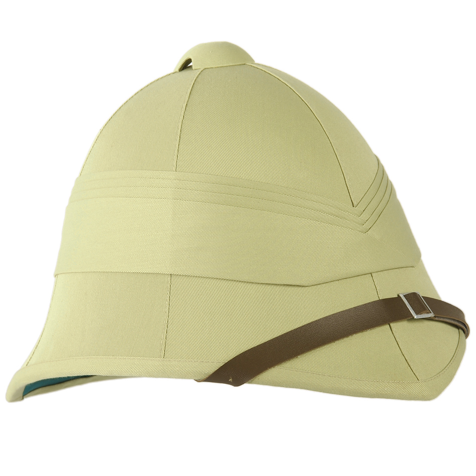 Classic French Army Tropical Pith Helmet Military Style Costume Replica Khaki
