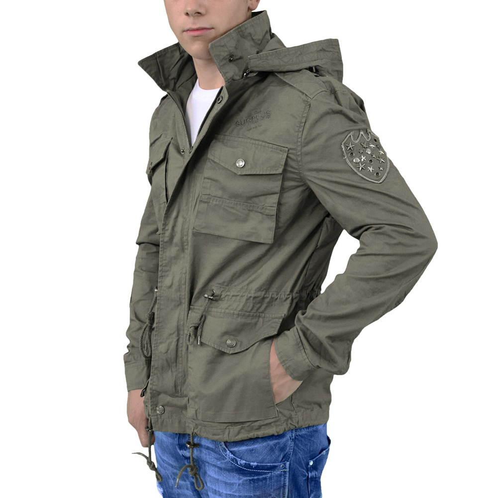 SURPLUS ARMY JACKET MILITARY STYLE COAT MENS HOODED PARKA ...