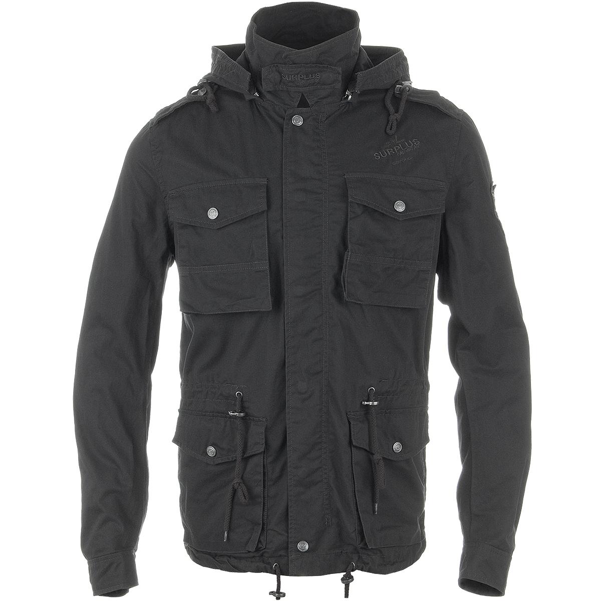 Surplus Military Jacket Army Style Coat Mens Combat Parka With Hood Cotton Black Ebay