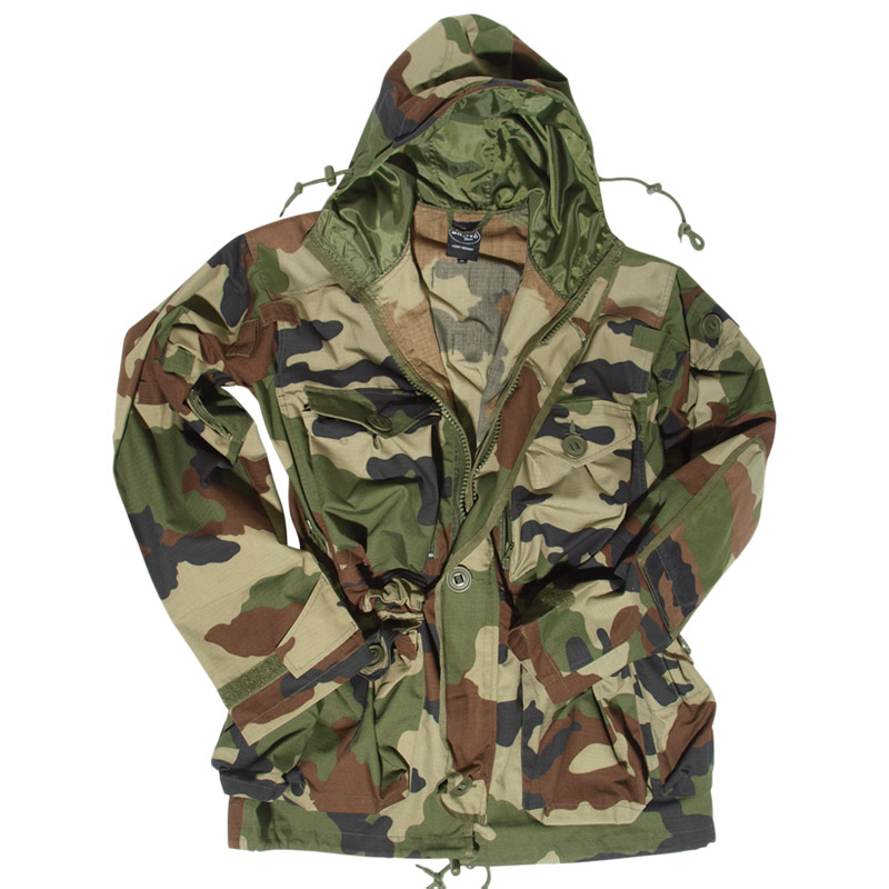 Military Smock Combat Hooded Parka Long Mens Jacket French Army ...