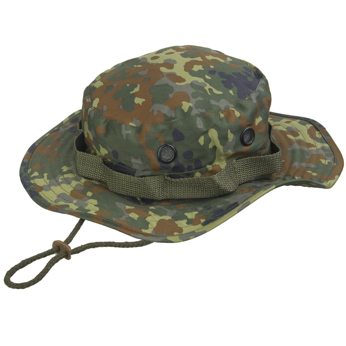 Sentinel Army Tactical Boonie Bush Jungle Hat Cap Fishing Hiking BW  Flecktarn Camo S-XXL 0b7ca0b316d