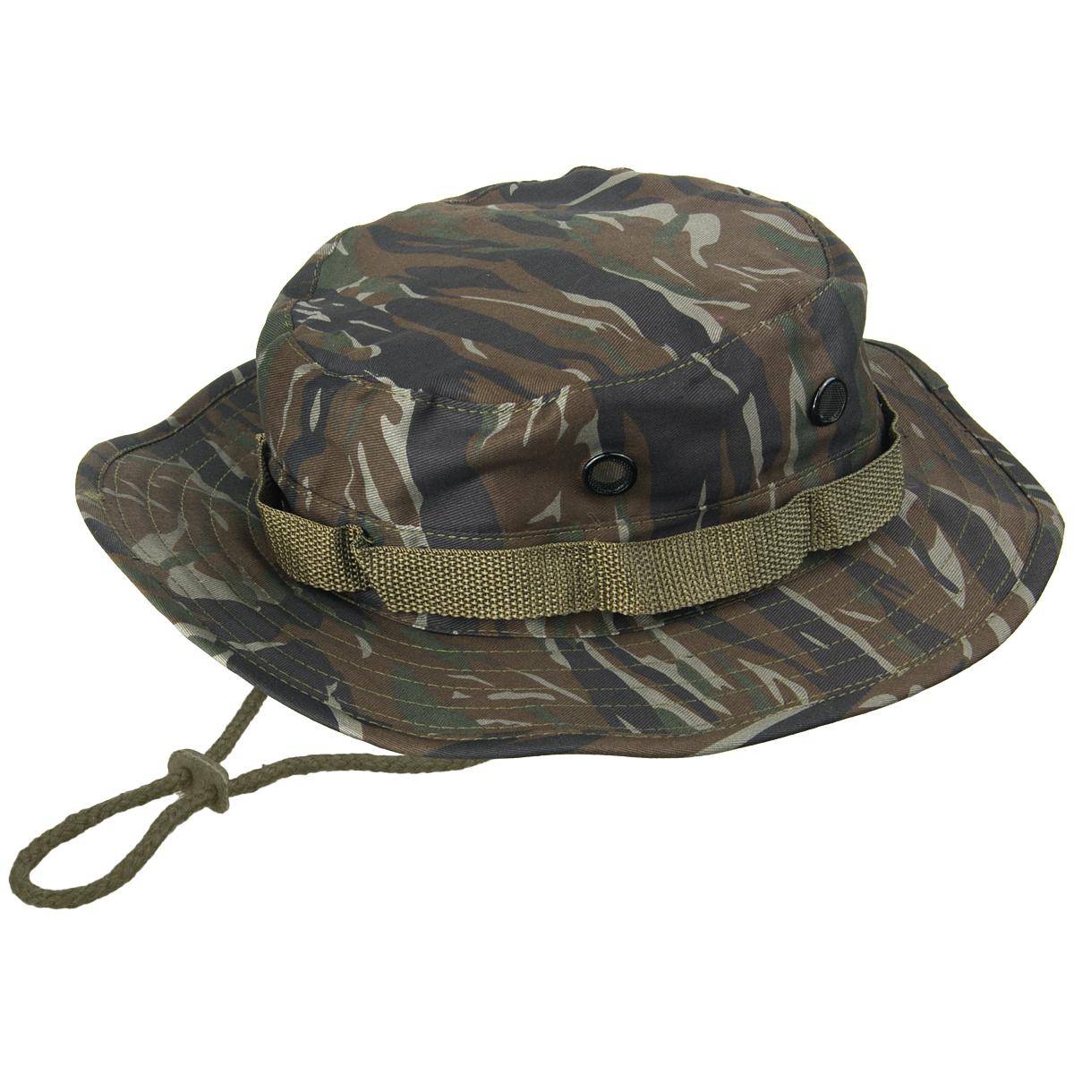 3d5bccb50ff Details about Military Vietnam Army Combat GI Boonie Jungle Bush Hat Tiger  Stripe Camo S-XXL