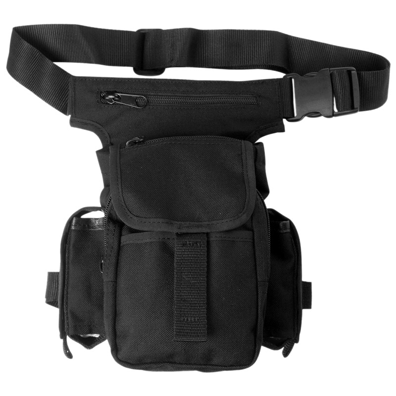 Mil-Tec MOLLE Belt Pouch Small Multi Purpose Waist Pocket Hiking Camping Black