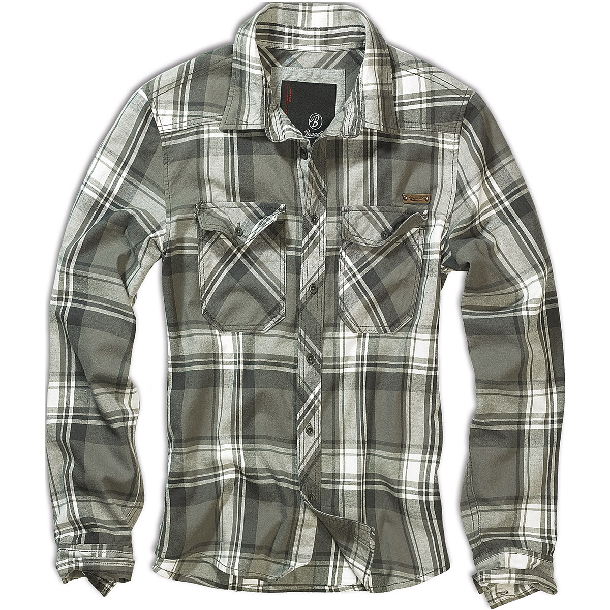 224d84135122 Brandit Casual Check Shirt Herren Baumwoll-Arbeit Langarm ...