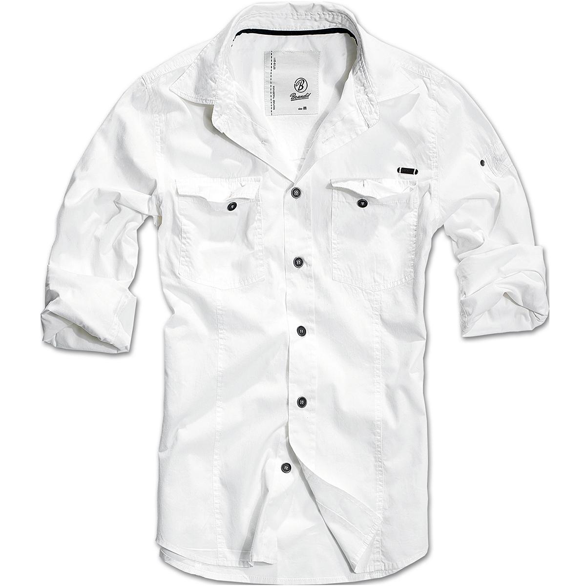 b992e1e04fe3 Sentinel Brandit Casual Plain Herren Sommer Shirt Langarm Hemd Slimfit  Baumwolle Armee To