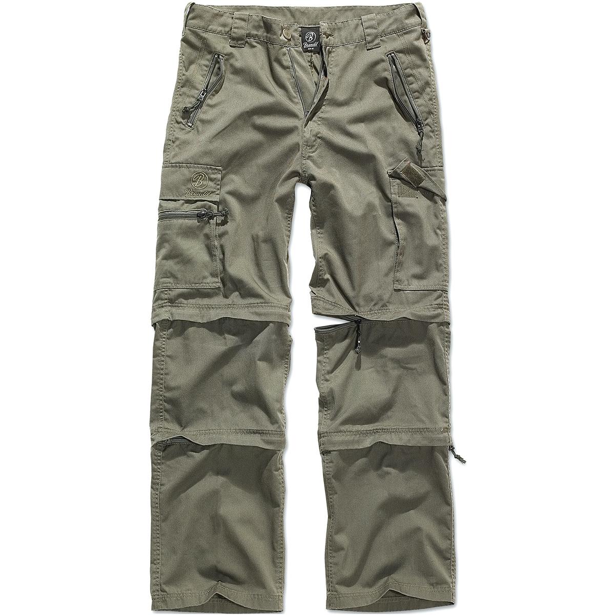 brandit savannah pantaloni verde oliva  Brandit Savannah 3 In 1 Trekking Pantaloni Escursionismo Shorts Di ...