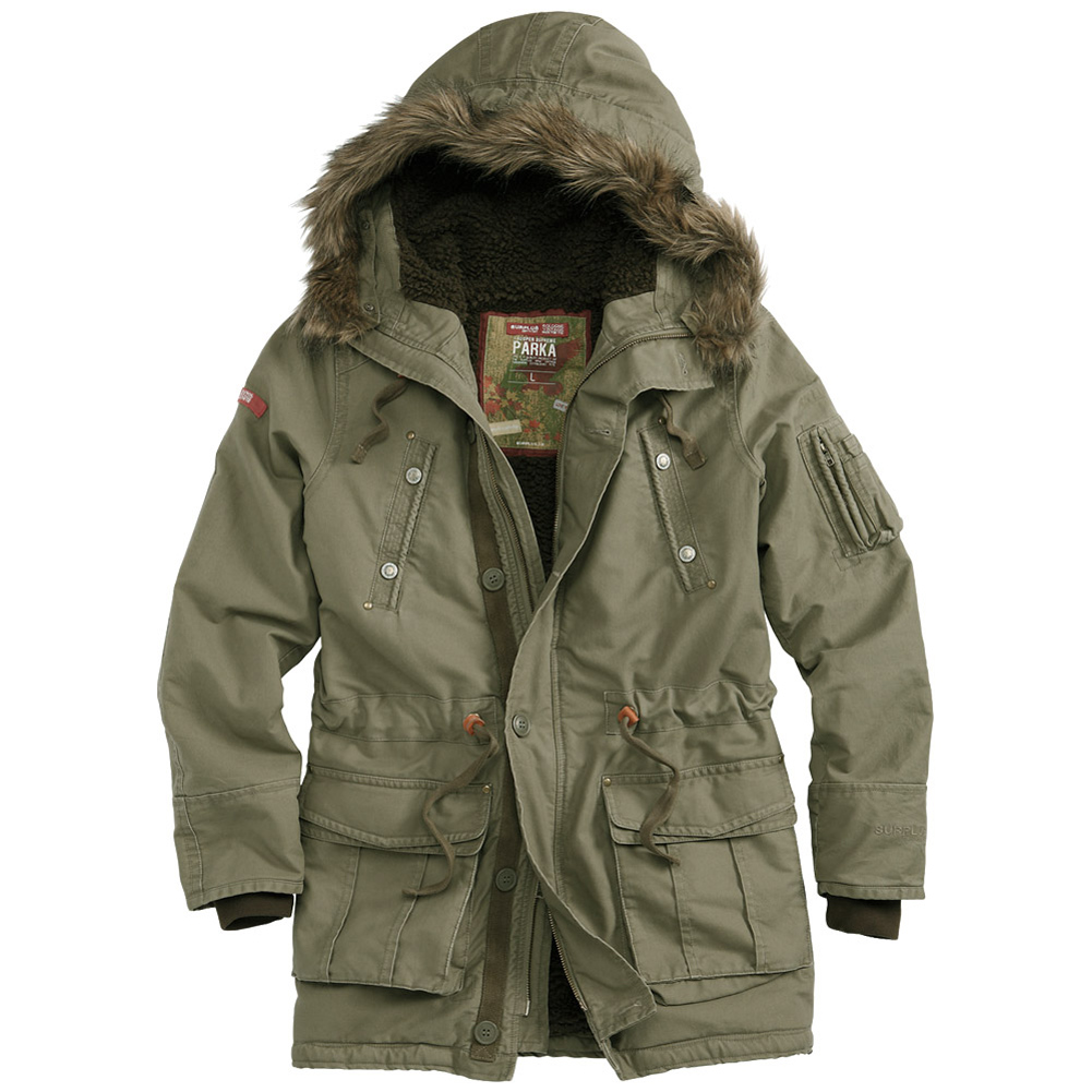 Surplus Trooper Supreme Warm Winter Parka Mens Long Hooded Jacket ...