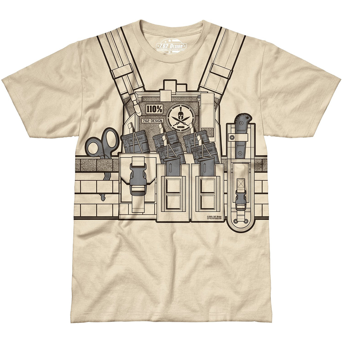 Design Bullet Bouncer Mens T Shirt Military Graphic