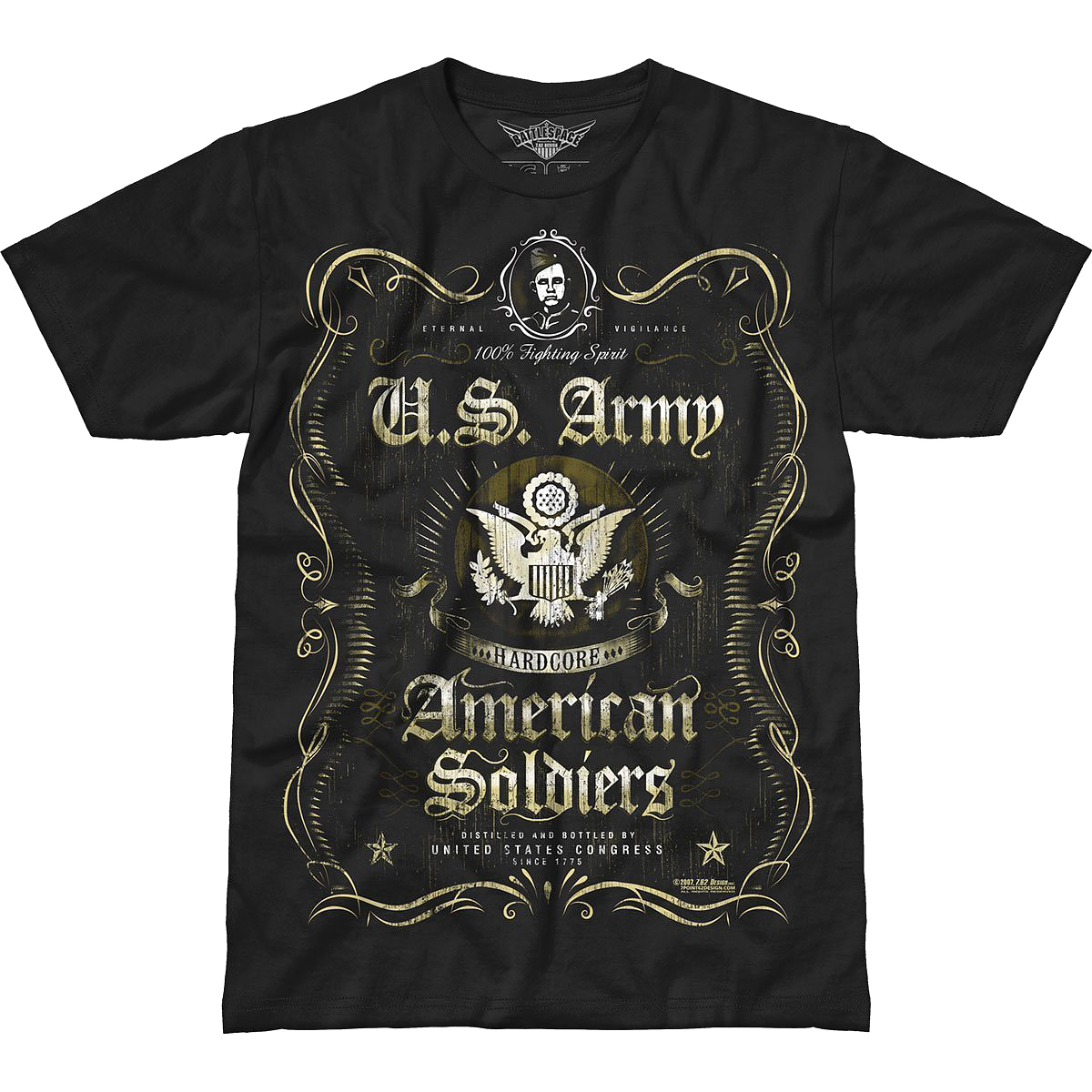 Design us army tee fighting spirit battlespace t for Army design shirts online