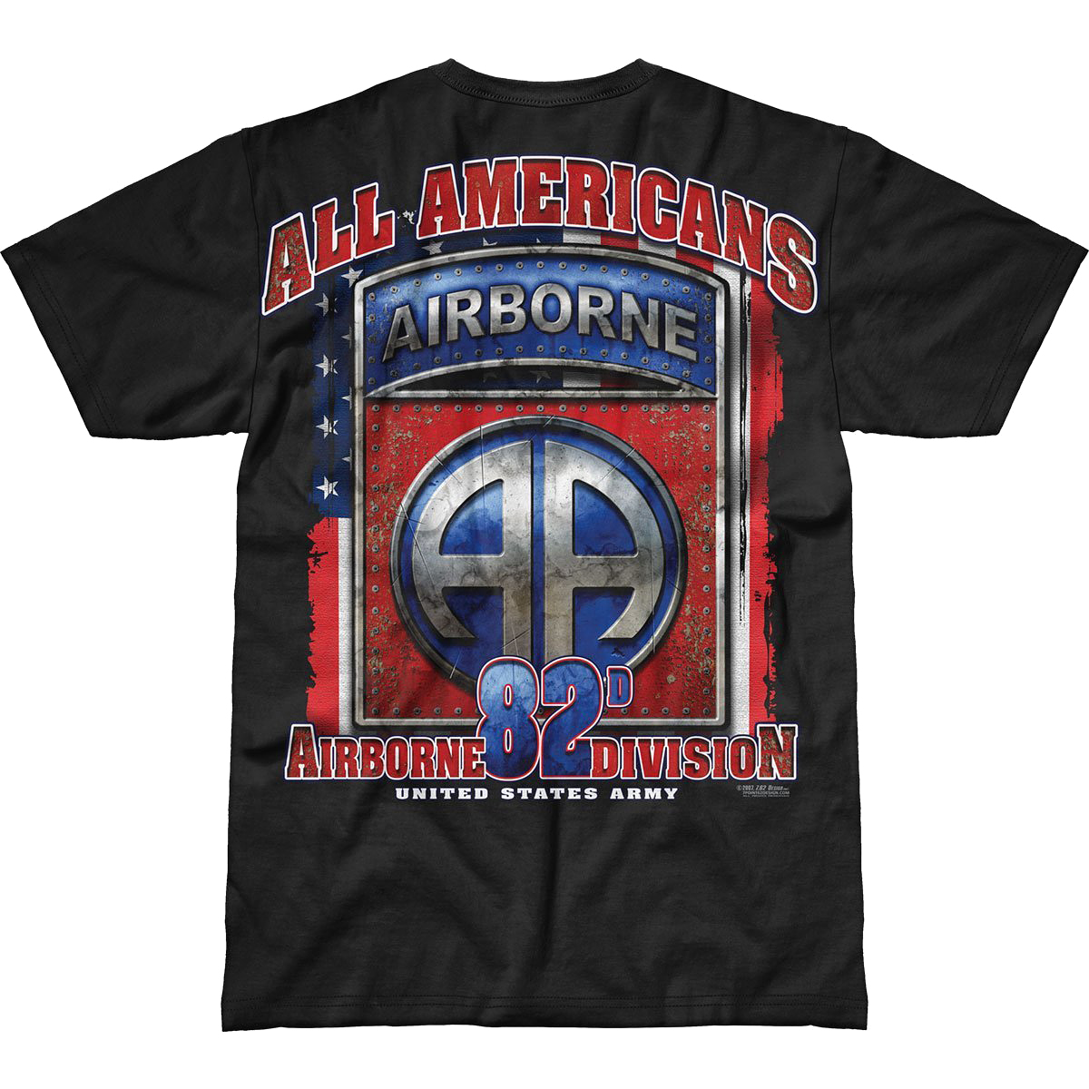 Sentinel 7.62 DESIGN US ARMY 82ND AIRBORNE ALL AMERICANS BATTLESPACE T-SHIRT  MILITARY TOP 2b8867a0a