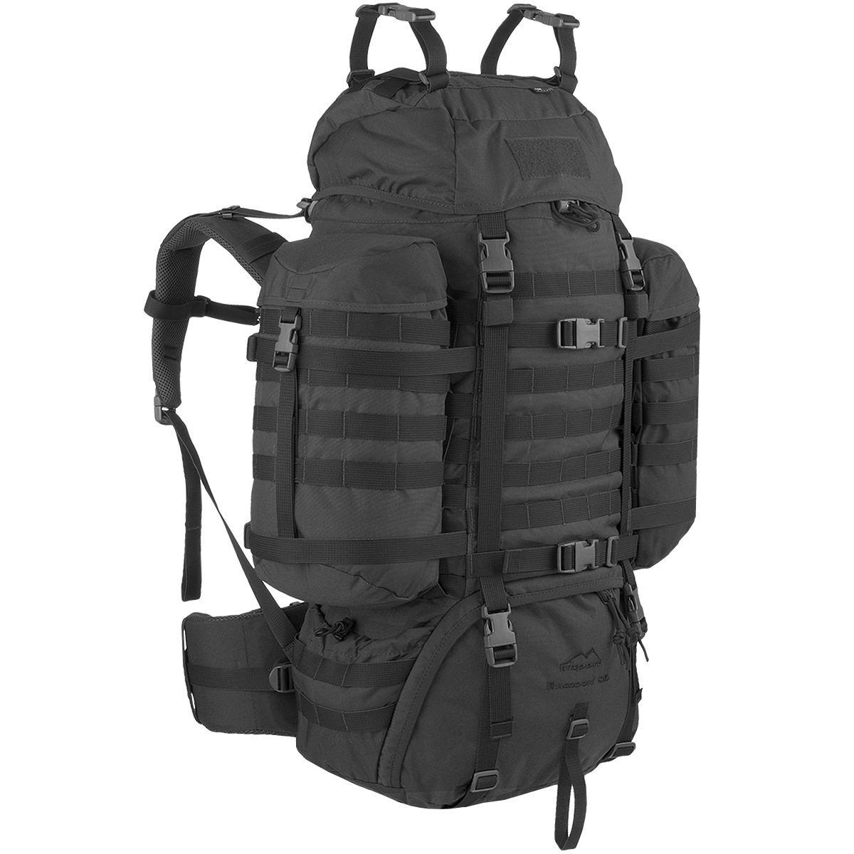 comprar popular b8e9d 2a9f3 Detalles de Wisport Mapache Militar Mochila Asalto Mochila Molle Trekking  Pack 85L Negro