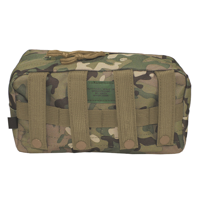 Large Utility Pouch Military Pocket MOLLE System Airsoft Webbing Operation Camo