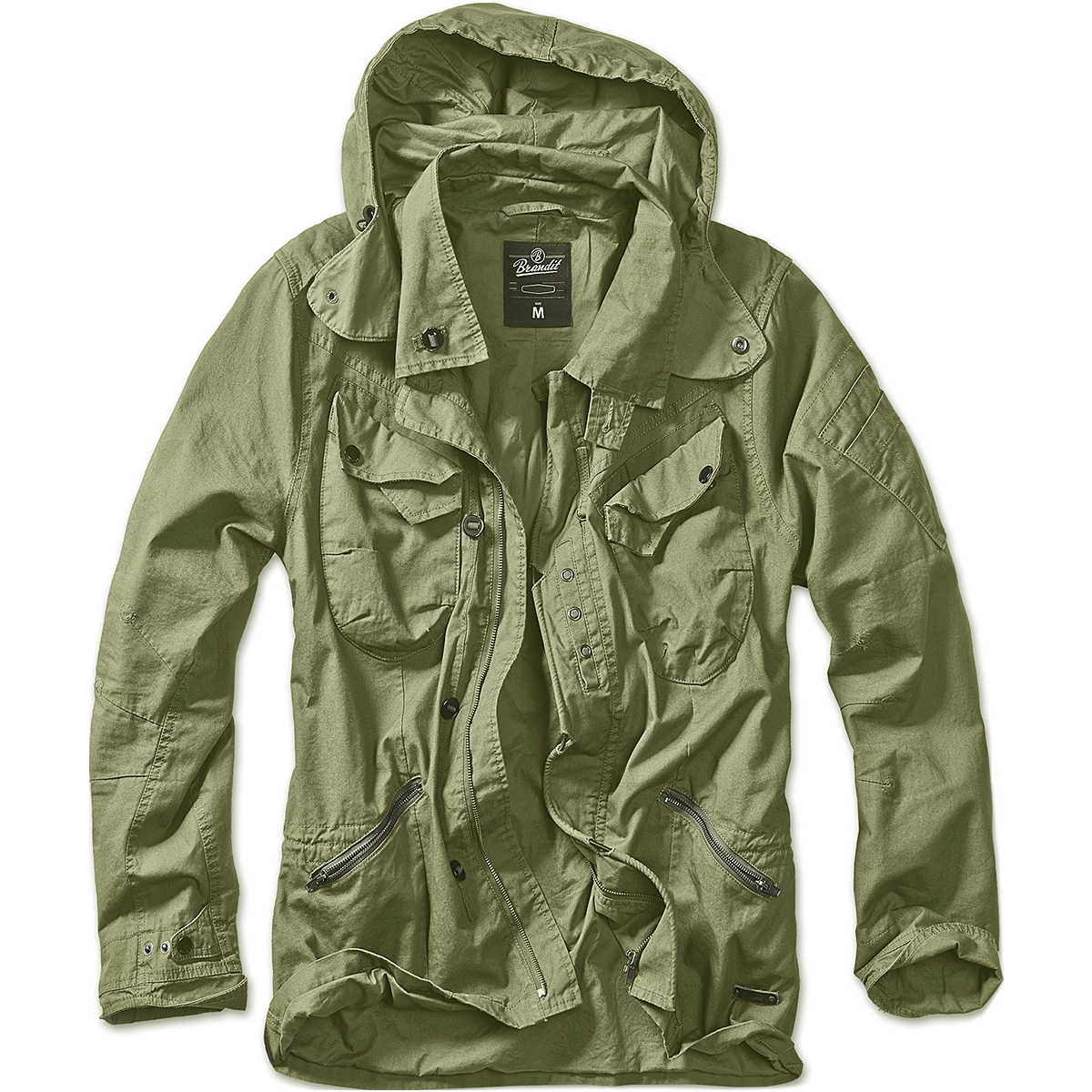 Brandit Mens Byron Outdoor Jacket Long Sleeve Hooded Cotton ...