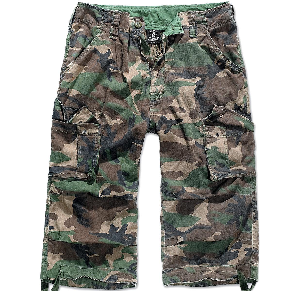 Sentinel Brandit Mens Urban Legend 3 4 Hunting Shorts Vintage Military Pant  Woodland Camo 5b084d1179b
