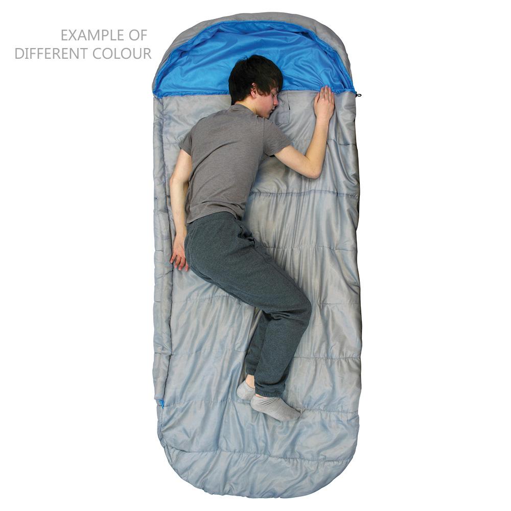 Sentinel Highlander Sleephaven Wide Xl Size Soft Inner Lining Comfort Sleeping Bag Azure