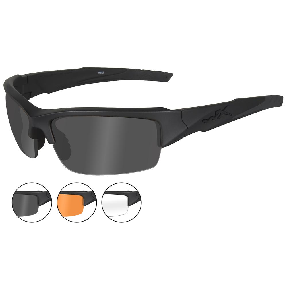 b28f47009e3 Sentinel Wiley X Wx Valor Gafas Tres De Repuesto Elegante Lentes Negro Mate  Montura