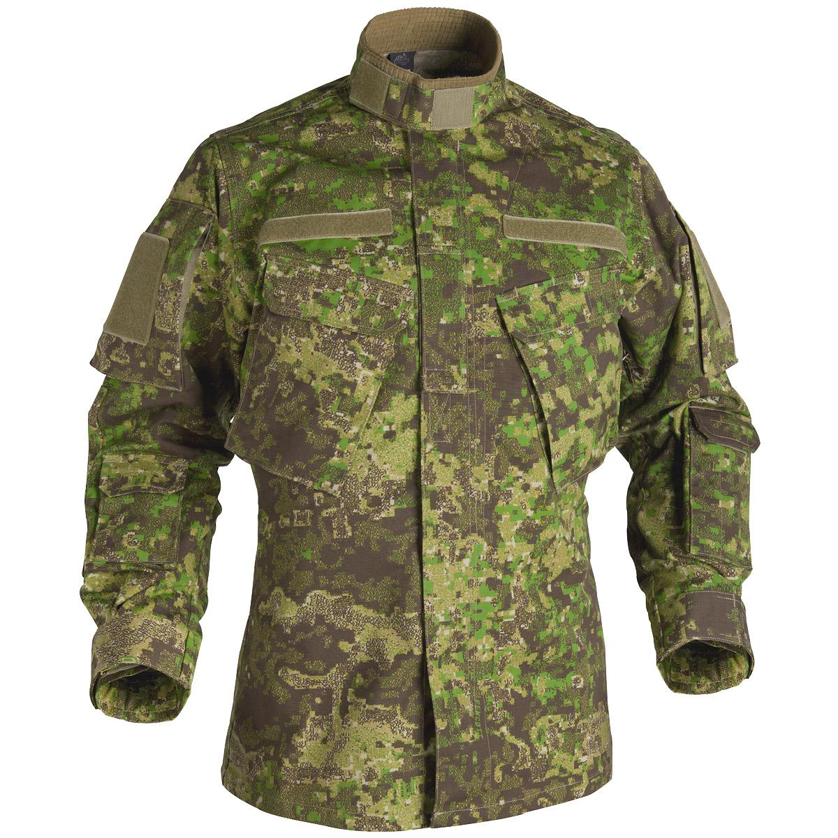 35734b279ec5e9 Sentinel Helikon Tactical Jacket Long Sleeve CPU Mens Combat Shirt Pencott  Greenzone Camo