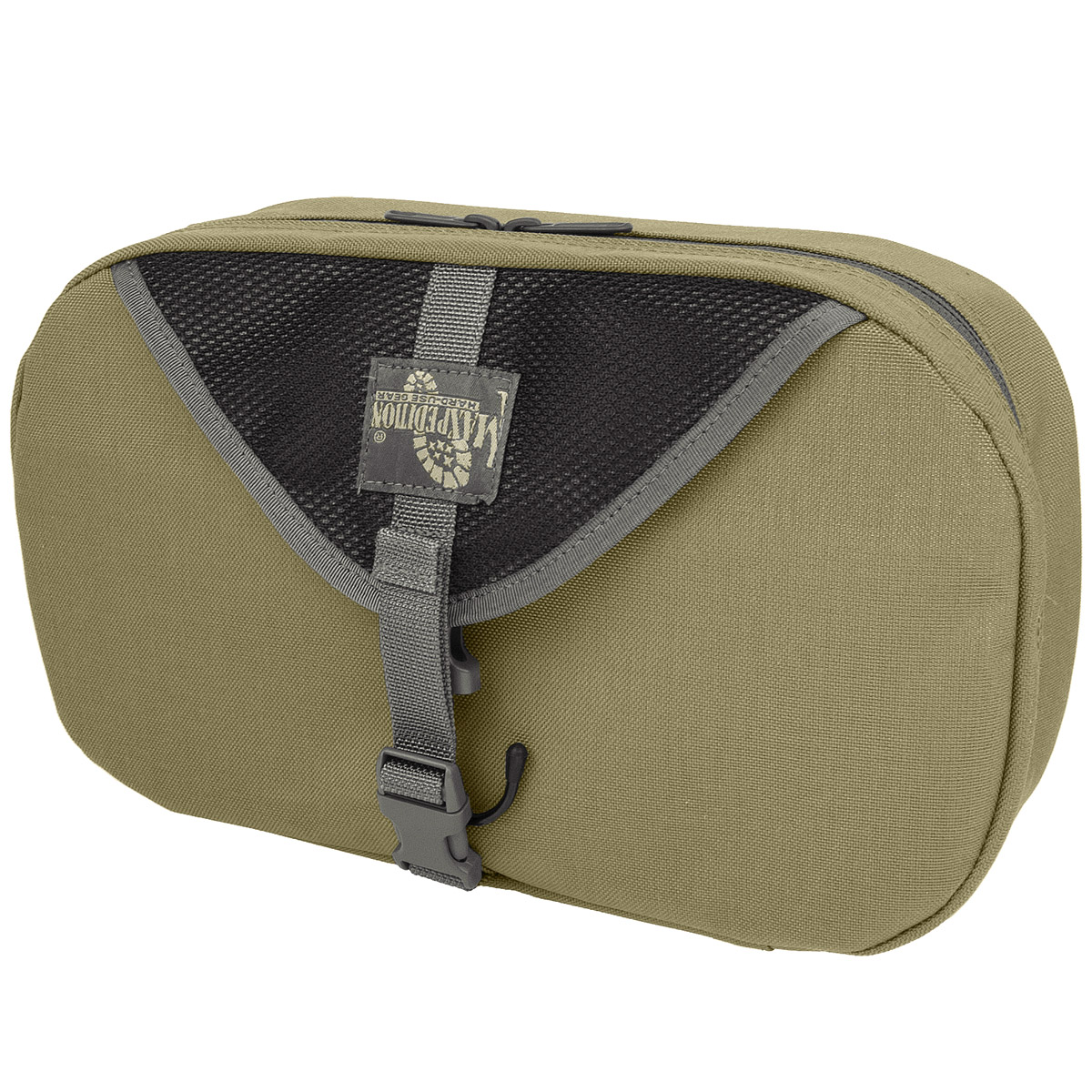 Sentinel Maxpedition Hanging Mens Toiletry Wash Bag Foldable Military Travel Pouch Khaki